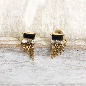 Anthropologie delicate earrings gold